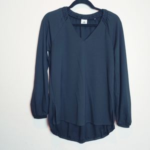 Cabi Black Swanky Long Sleeve Tee. Size XXS